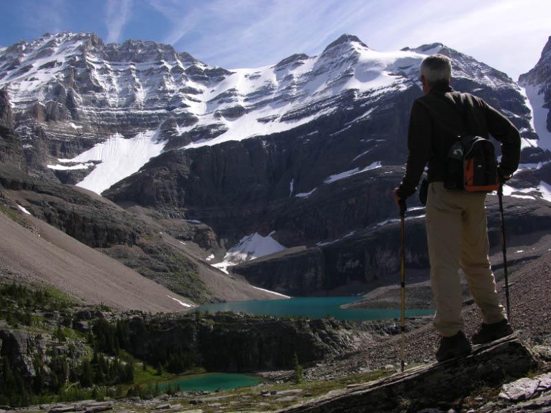Siguiendo la alpine route en el lago O´Hara