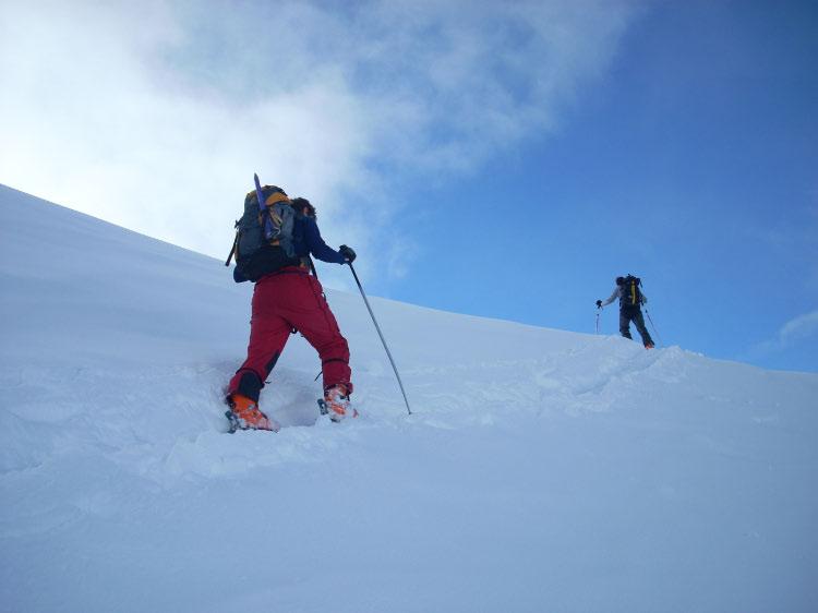 Hacia el pico Lurtet