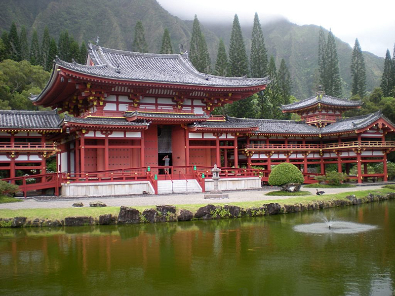 Byodo in temple oahu hawaii eeuu