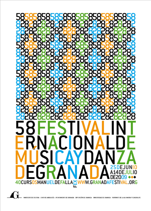 Cartel del festival de musica y danza de granada
