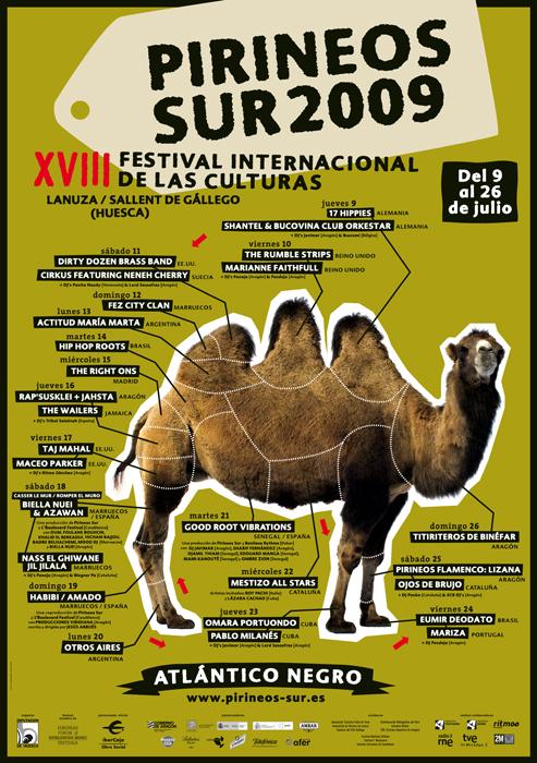 Cartel festival Pirineo Sur