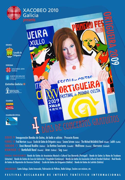 Cartel del festival de Ortigueira 2009