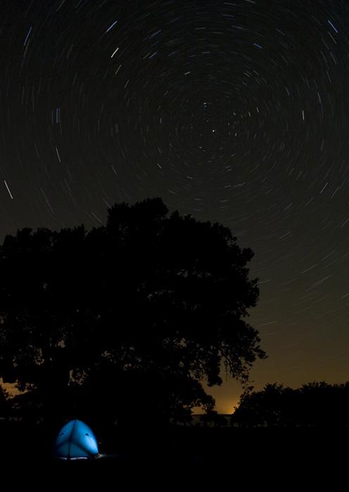 Noche estrellada en las dehesas Castellanas