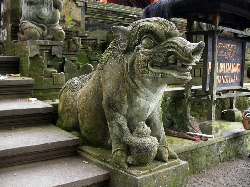 Templo hindú. Bosque de los Monos.