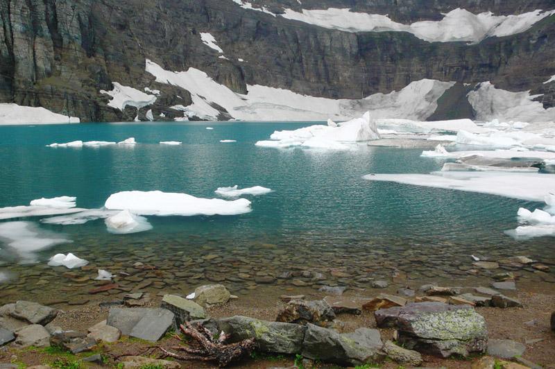 Glaciers Iceberg Lake