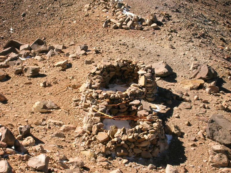 Zona del hallazgo de las momias