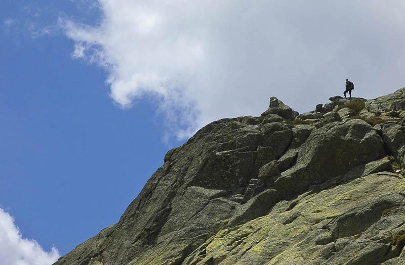 Montañero solitario