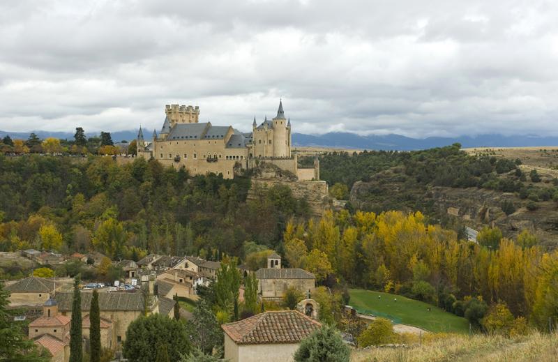 Panoramica de la ciudad de Segovia