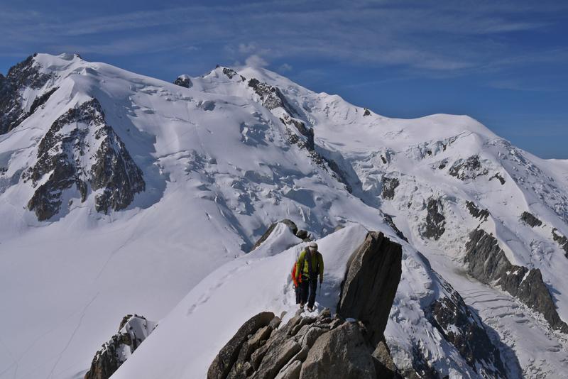 Los tres montes Tacul Maudit Mont Blanc
