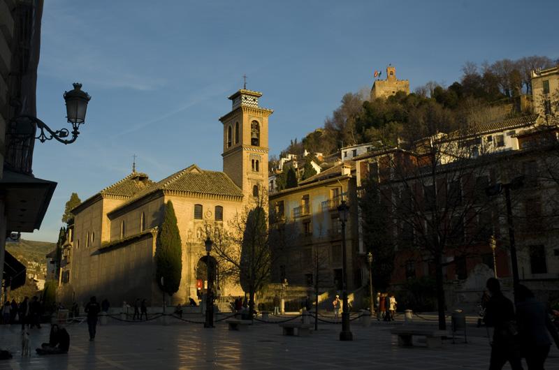 Iglesia de San Guil con su alminar árabe - Torre de la Vela - Granada