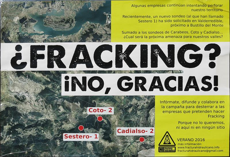 Cartel Asamblea contra fractura hidráulica en Cantabria