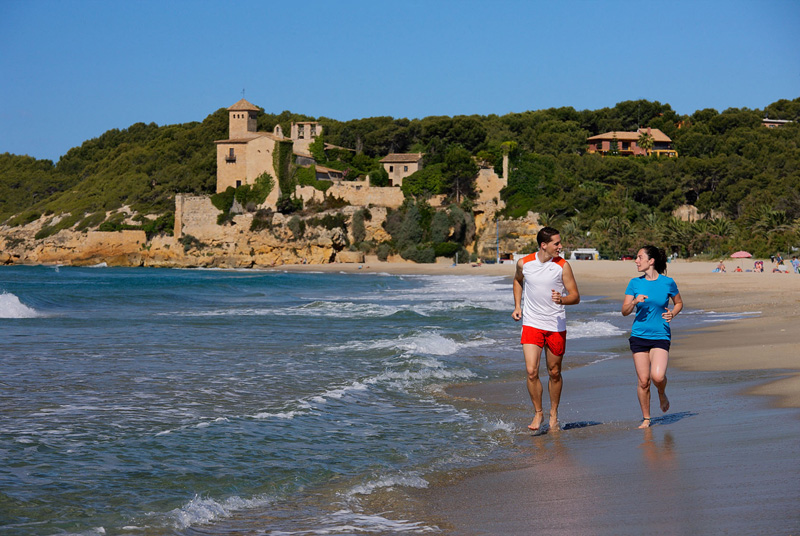 Playa y Castillo de Tamarit, Tarragona