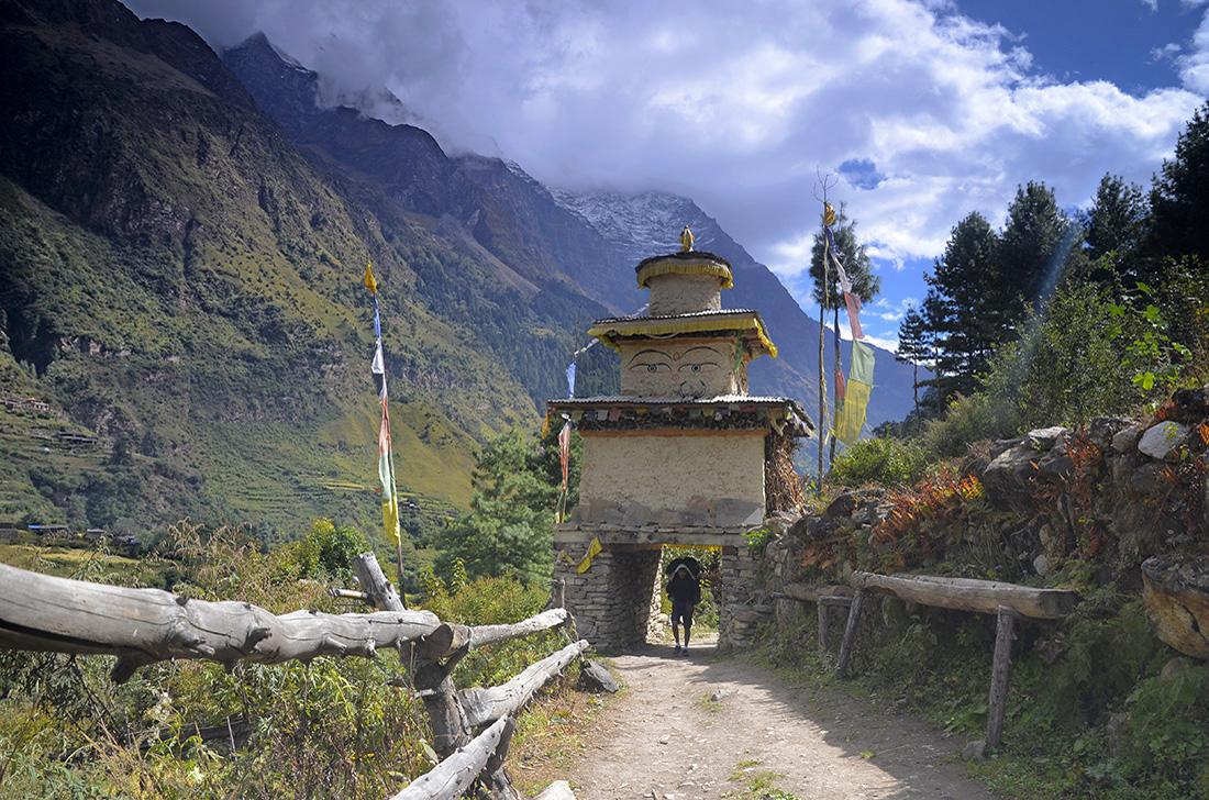 Lho, cordillera del Himalaya, Nepal
