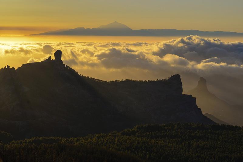 Atardecer desde Pico de las Nieves-Gran Canaria