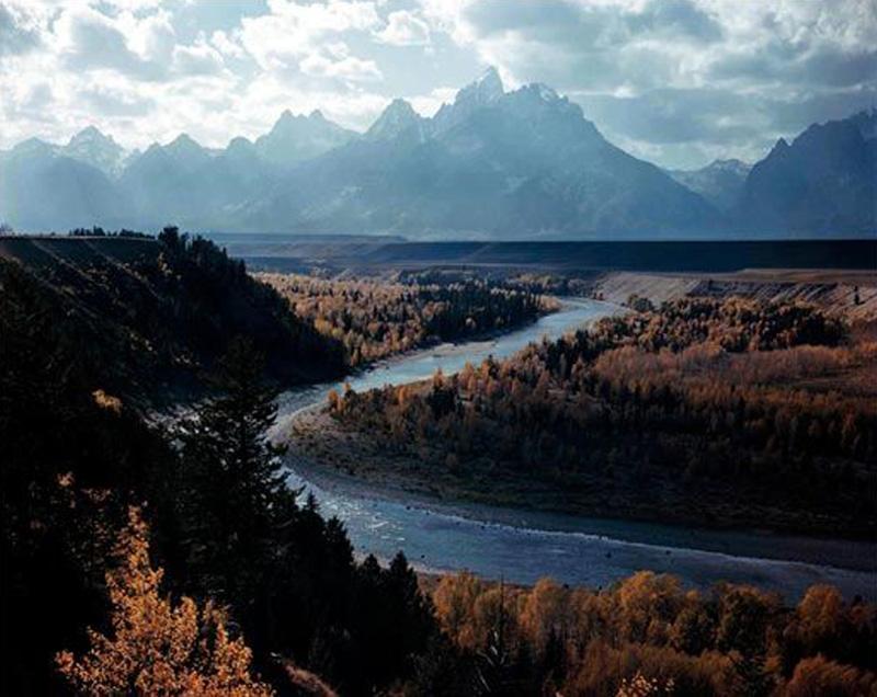 Cordillera Teton y río Snake. Parquee Nacional Grand Teton
