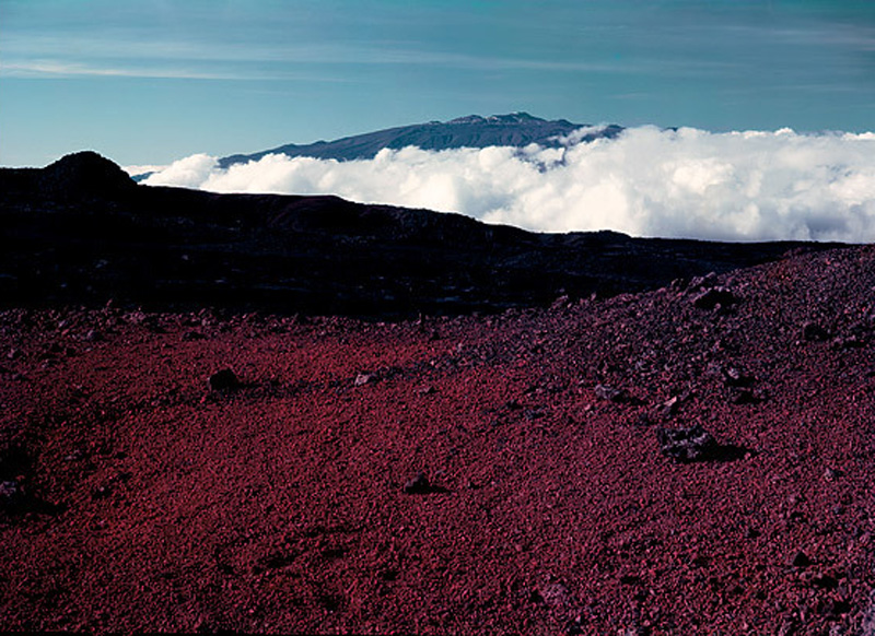 Mauna Kea desde Mauna Loa, Hawái