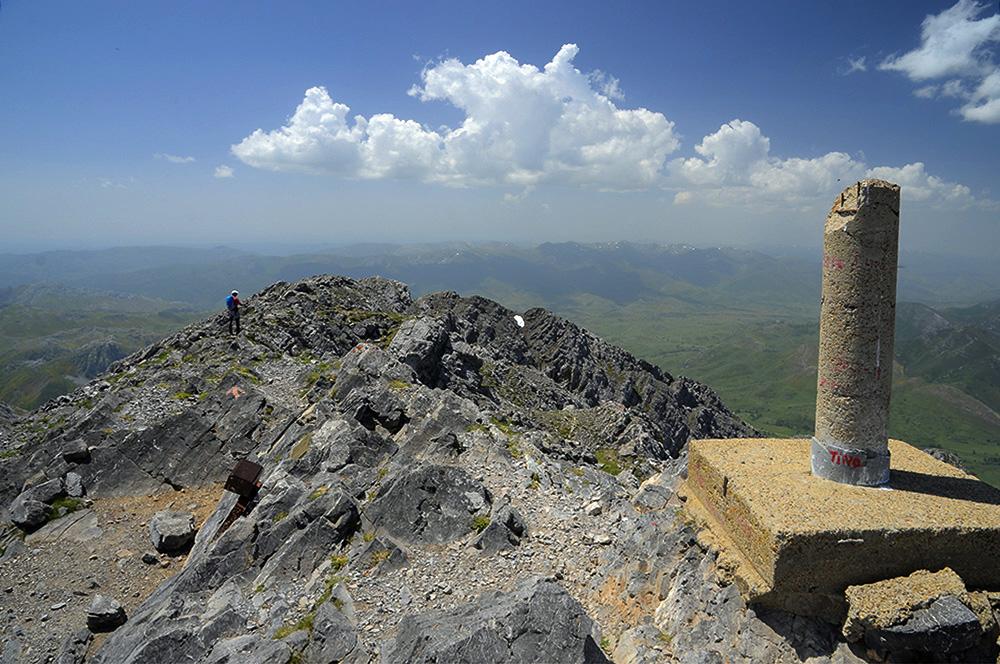 Buzón y vértice de cima-Peña Ubiña