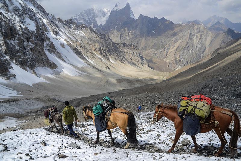 Descenso del paso Ak Tubek 4.390m-Kirguistán