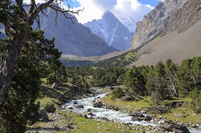 Al fondo el pico Ak Suu 5355m-Kirguistán