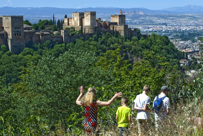 La Alhambra vista desde el Sacromonte-Granada