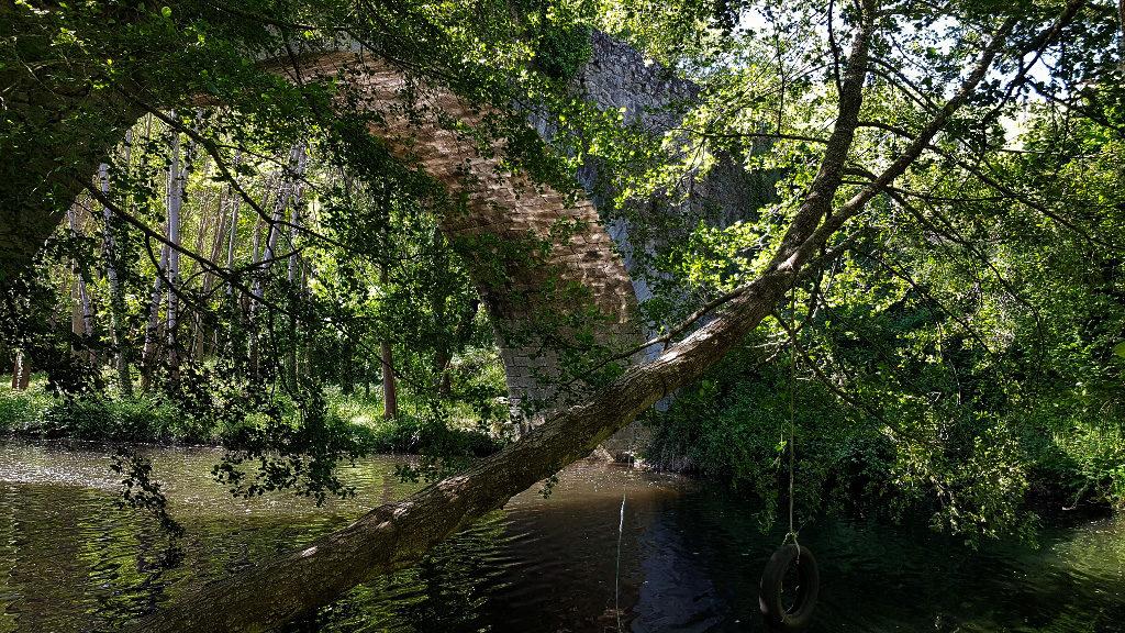 Puente medieval-Río Cuerpo de Hombre-Salamanca