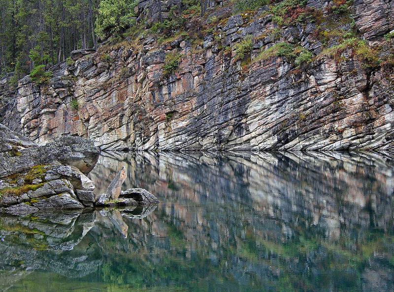 Reflejo en el lago de herradura, Jasper NP
