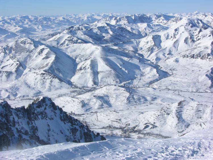 Vista de la Babia desde la cumbre