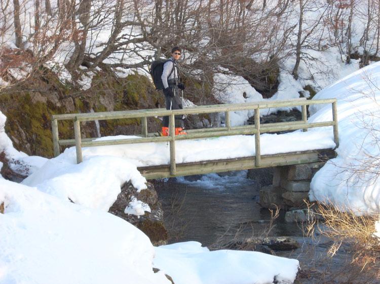 Puente en el valle del pico Garbanceda