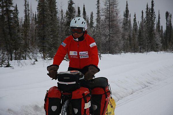 Pedaleando por la ice road