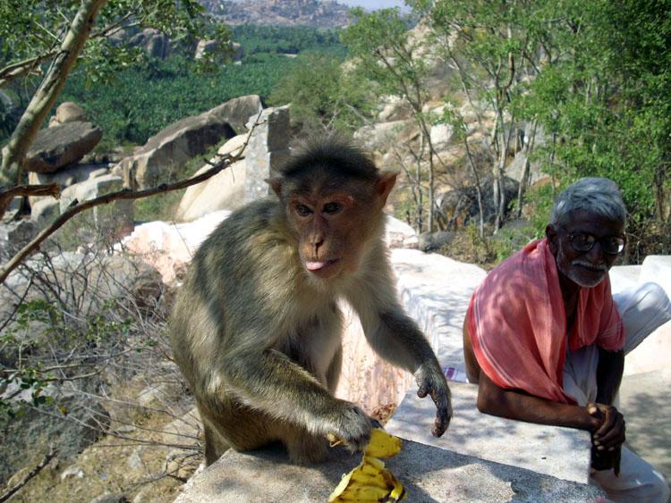 Subida al templo Hanuman