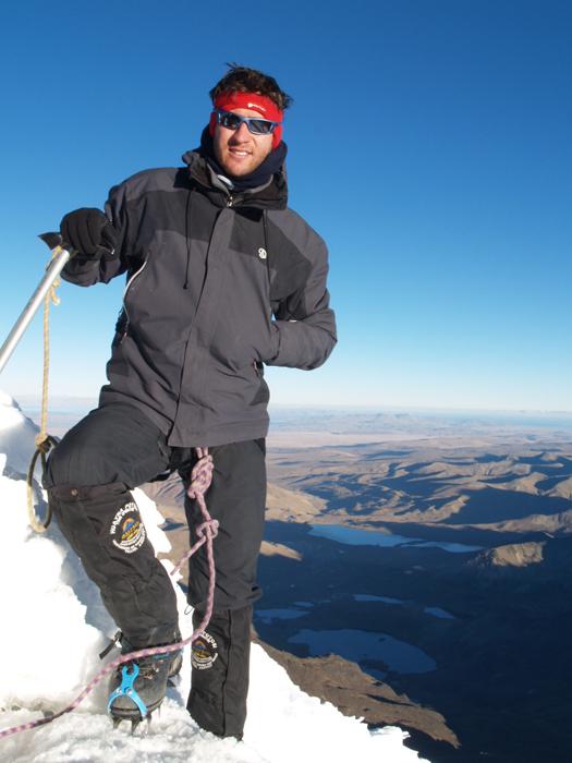 El montañero Victor Salazar