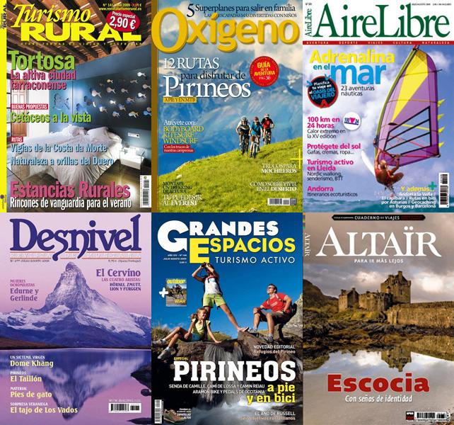 Portadas Revistas de Viajes y Aventura