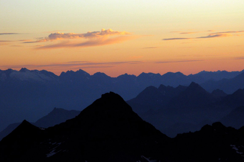 Alpes (Atardecer)