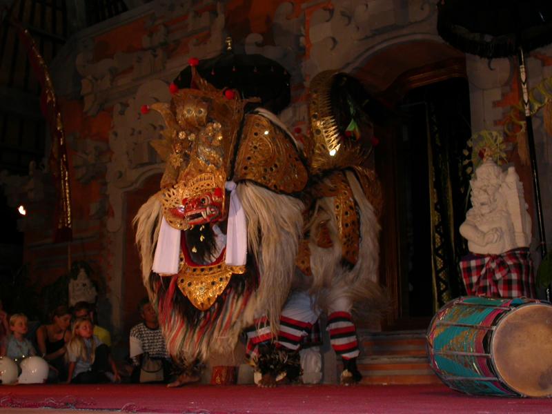 Danza del Barong. Ubud. Bali. Indonesia