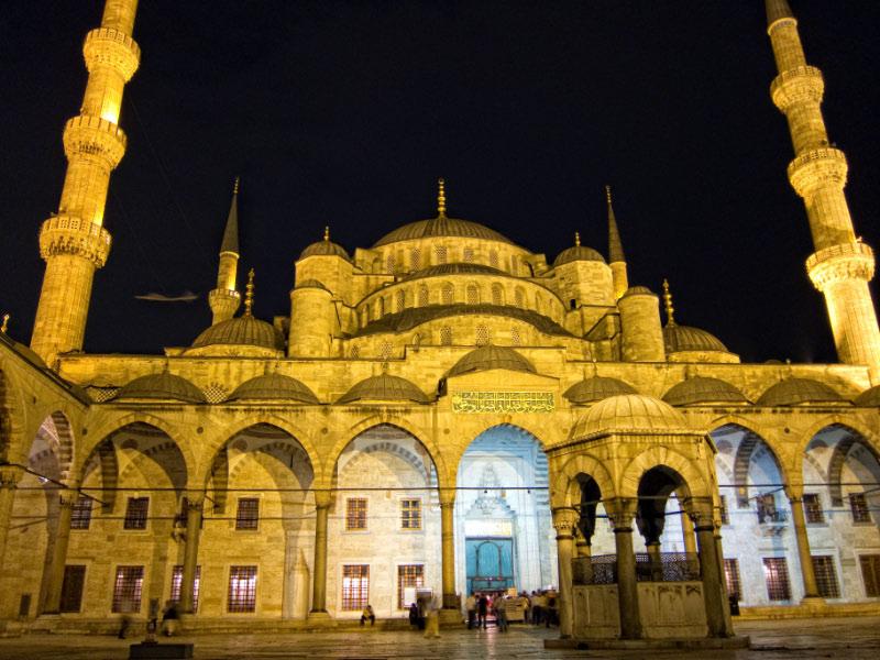 Patio interior de la mezquita azul