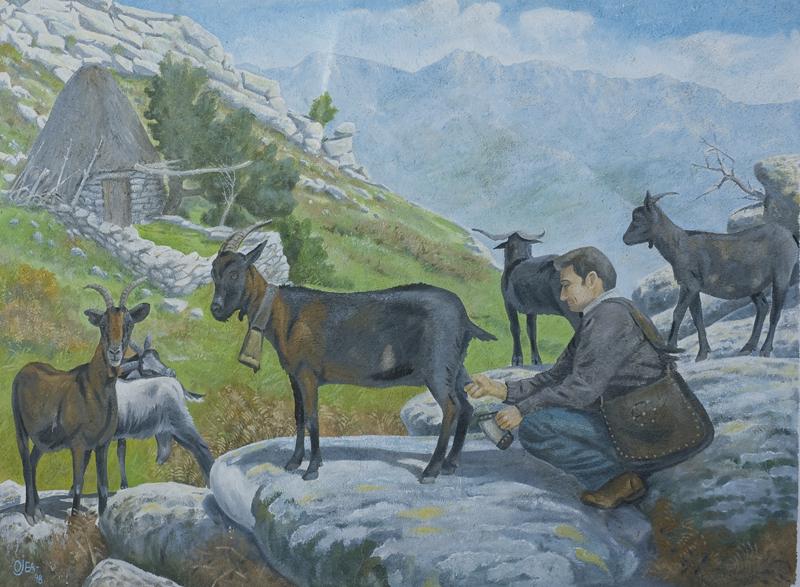 Mural de tema rural