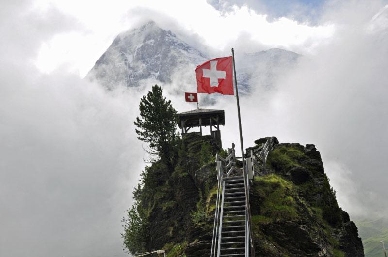El Eiger desde Kleine Scheiddeg