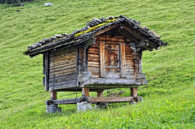 Hórreo en las cercanías de Grindelwald
