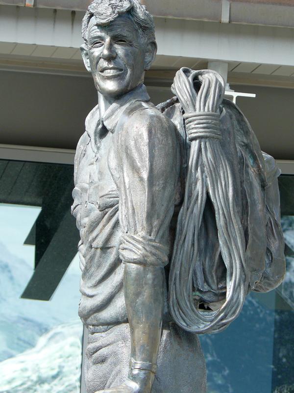 Escultura de montañero, Nueva Zelanda