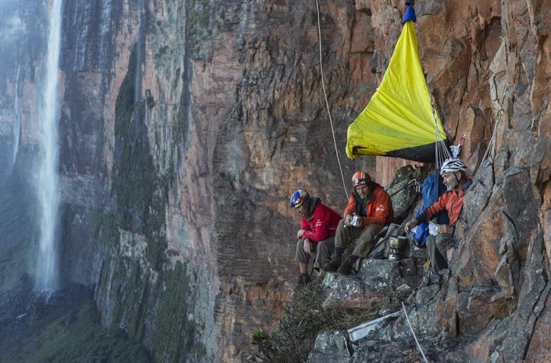 Klettern in die Wand + Biwak