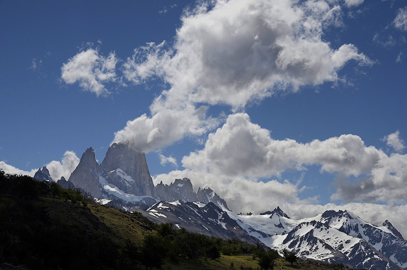 La montaña humeante