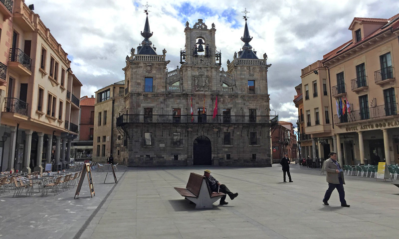 Plaza mayor-Astorga-León