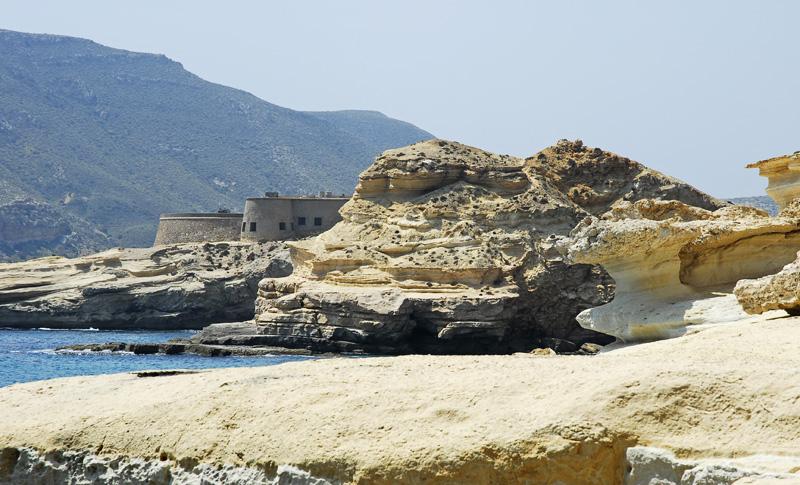 Castillo de San Ramón, El Playazo, Cabo de Gata, Almería