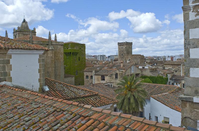 La ciudad antigua de Cáceres