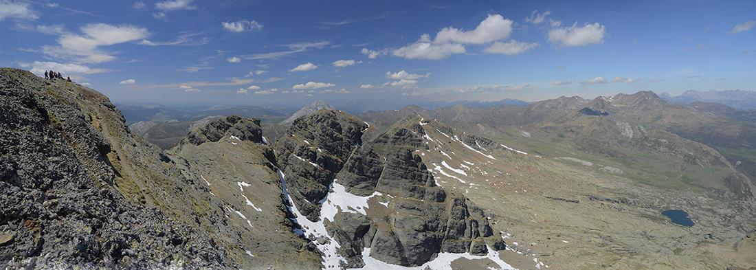 La cumbre y el pozo Curavacas, Montaña Palentina