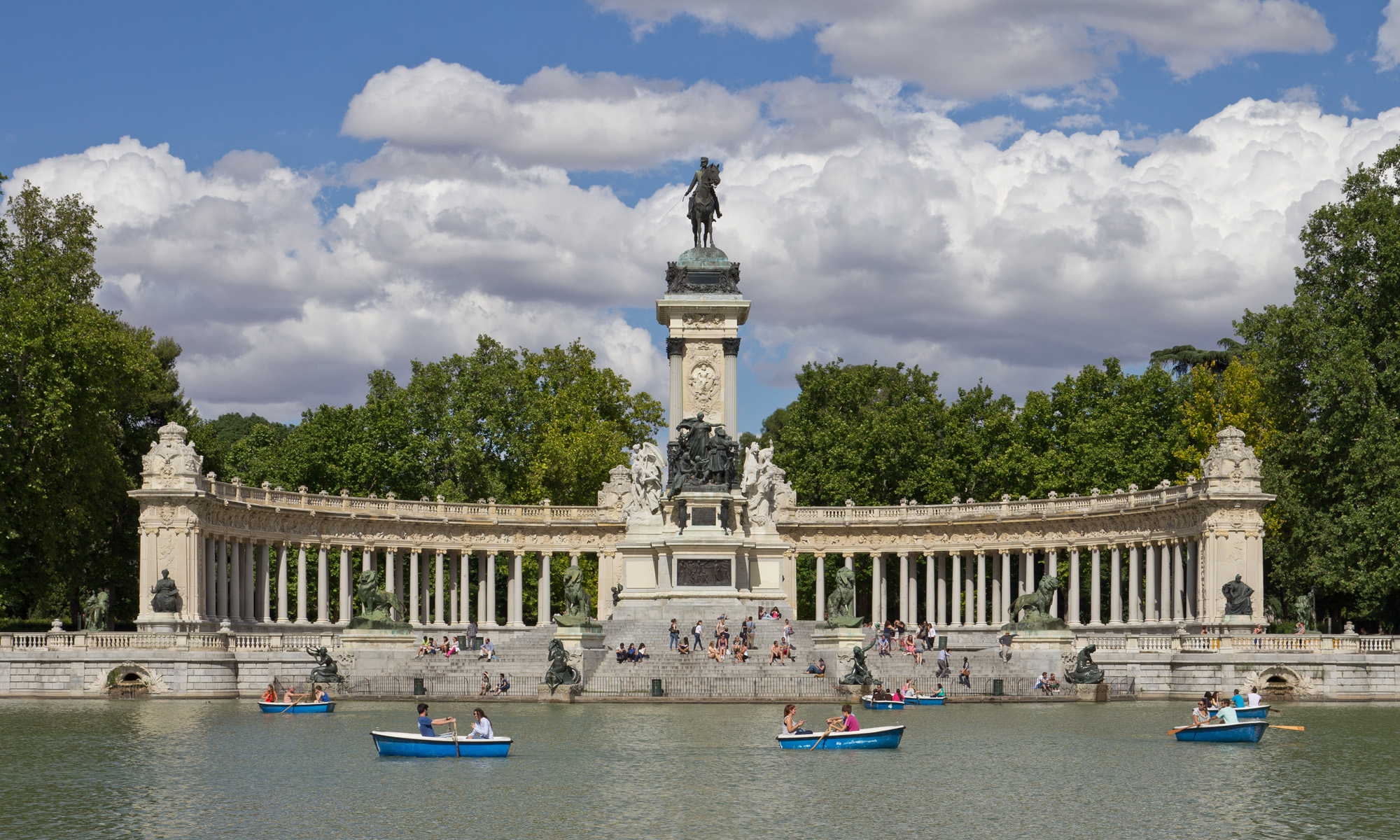 Lago del Parque del Retiro-Madrid
