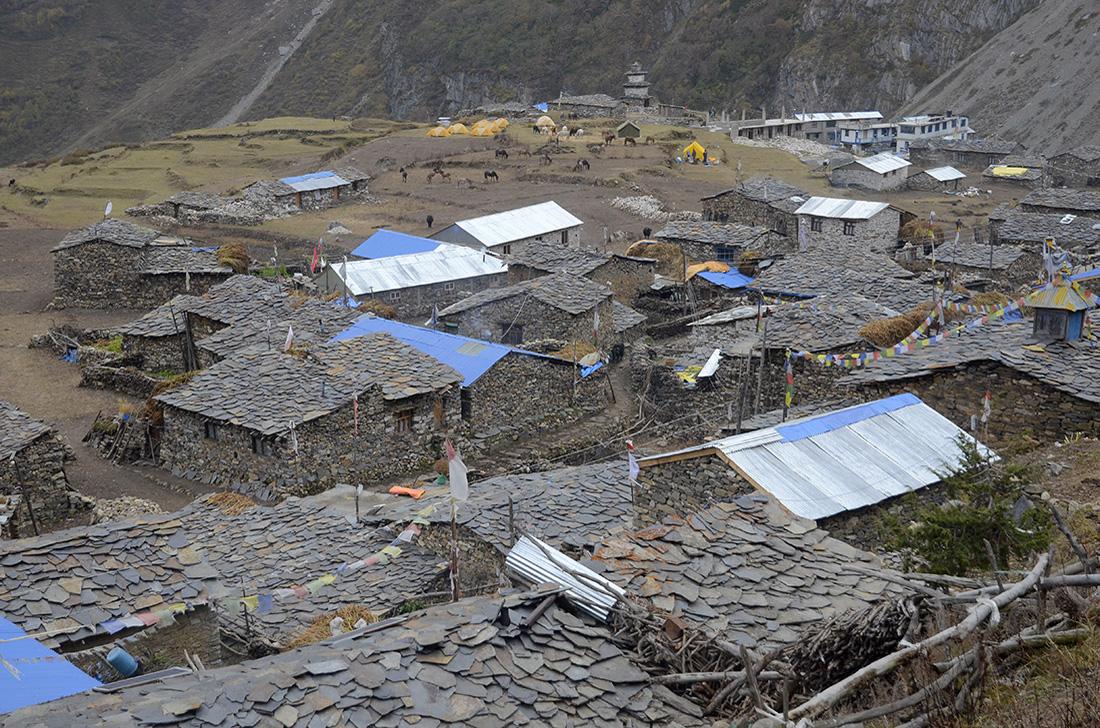 Samdo, cordillera del Himalaya, Nepal