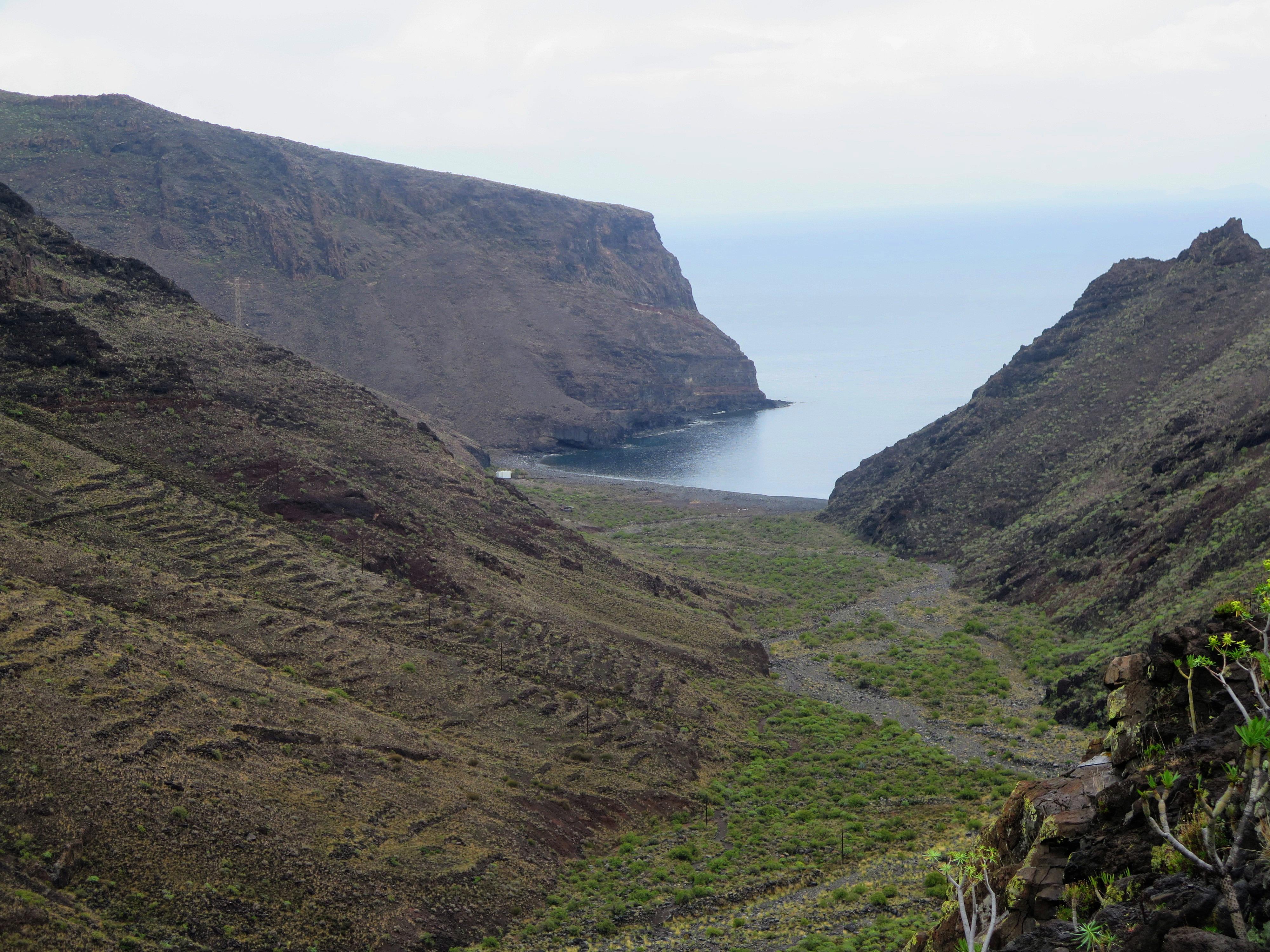 La Gomera. Barranco del Cabrito, La Guancha, San Sebastian