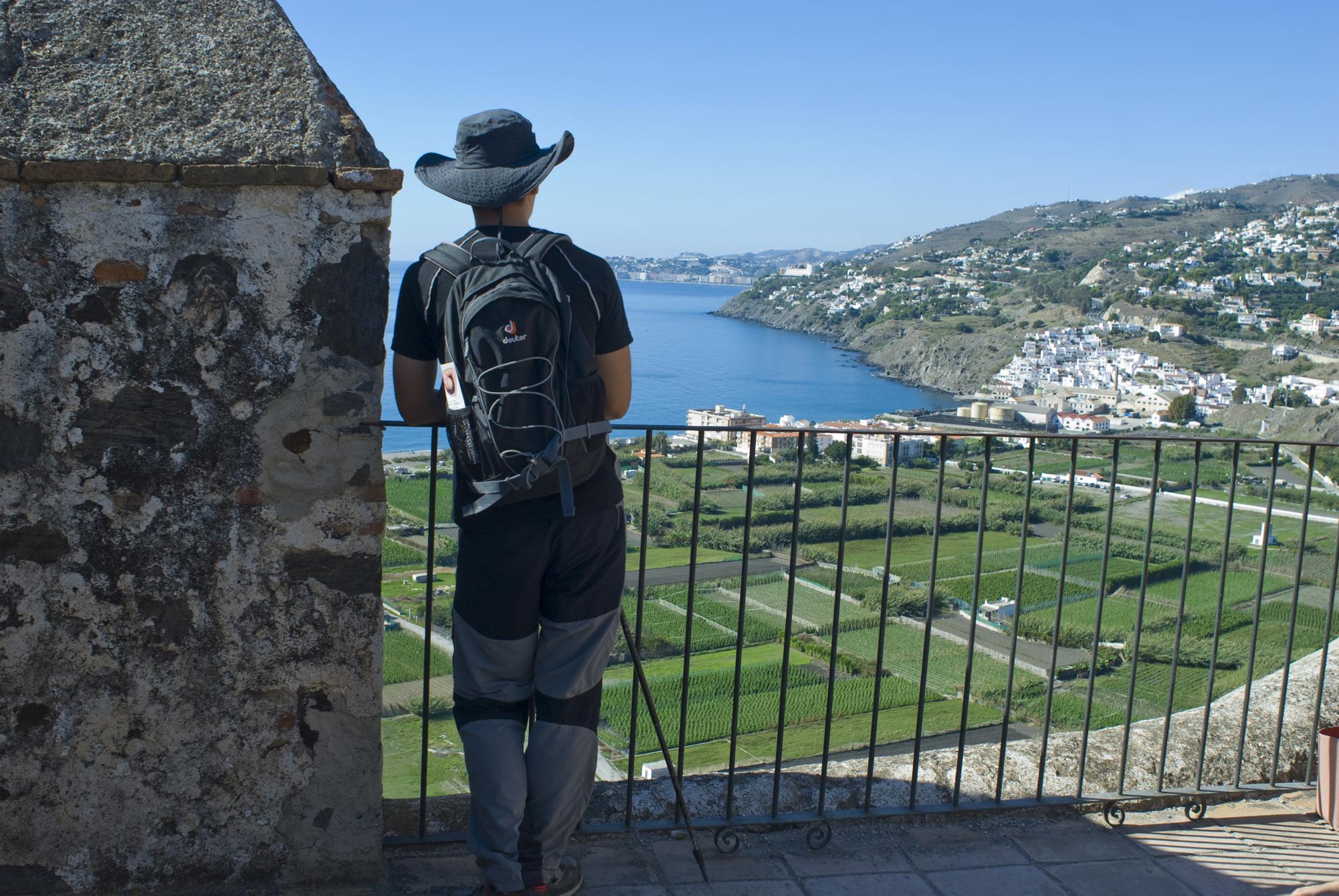 Panorámica desde la fortaleza de Salobreña-Granada