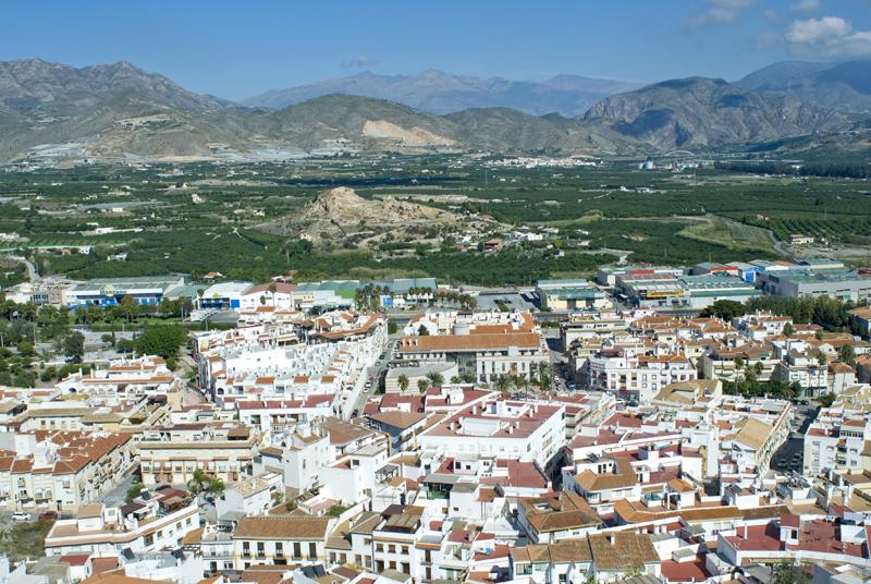 Panorámica de Salobreña y campos de cultivo-Granada
